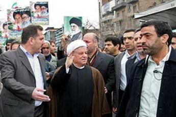 هاشمی رفسنجانی در راهپیمایی روز قدس شرکت کرد