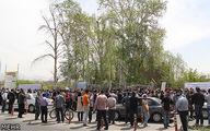 تجمع بازرسان وزارت صنعت و کارگران شرکت نساجی مازندران مقابل مجلس