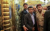 زیارت احمدینژاد از حرم امام موسی کاظم(ع) و امام جواد(ع) + عکس
