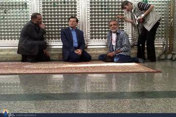 افخمی و قزوه در حرم حضرت زینب + عکس