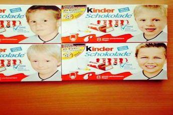 تصویر ماریو گوتسه و تونی کوچولو بر روی بسته های شکلات