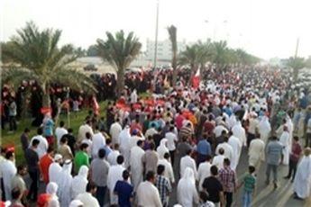 تظاهرات شبانه در مناطق مختلف بحرین