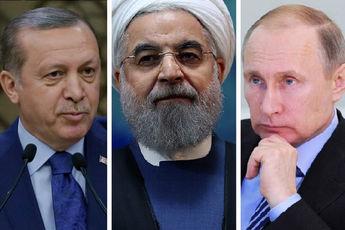 روحانی، پوتین و اردوغان در قزاقستان