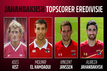 جهانبخش، چهارمین آقای گل تاریخ AZ در هلند