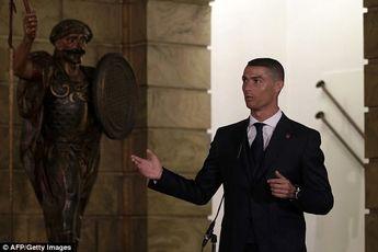 دیدار رونالدو با رئیس جمهور پرتغال