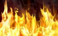 آتش سوزی ساختمان ۱۲ واحدی در خیابان کریمخان