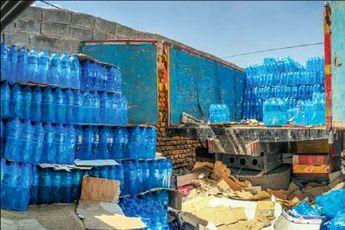 توزیع روزانه 44 هزار بطری  آب معدنی در آبادان