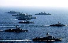 نمایش اقتدار نیروهای دریایی ایران در آب های خلیج فارس