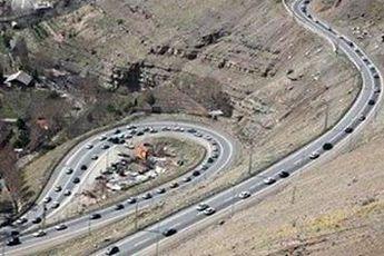 یک طرفه شدن جاده های چالوس و هراز از ساعت ۱۵ امروز