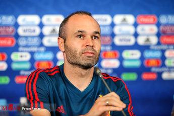 کنفراس خبری سرمربی تیم ملی اسپانیا پیش از بازی با ایران